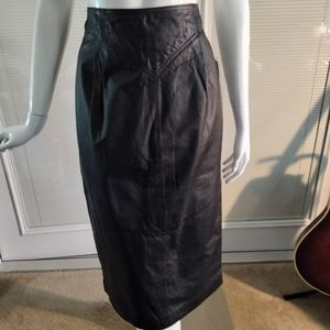 Chia leather pencil skirt. Size 10
